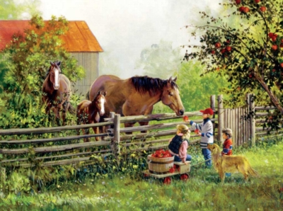 Treat Friends - 1000pc Horse Jigsaw Puzzle By Sunsout
