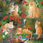 Golden Cats in the Sun - 1000pc Jigsaw Puzzle By Sunsout