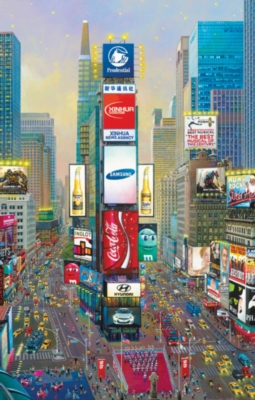 Times Square Twilight - 1000pc Jigsaw Puzzle By Sunsout