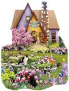 Easter on the Lawn - 1000pc Shaped Spring Jigsaw Puzzle By Sunsout