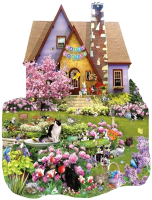 Easter on the Lawn - 1000pc Shaped Jigsaw Puzzle By Sunsout