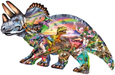 When Dinosaurs Ruled - 1000pc Shaped Jigsaw Puzzle For Kids By Sunsout