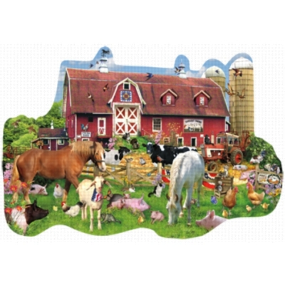 Summer Barn - 1000pc Shaped Jigsaw Puzzle By Sunsout