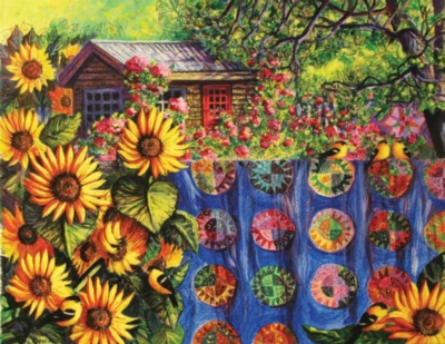 The Potting Shed - 1000+pc Large Format Jigsaw Puzzle By Sunsout
