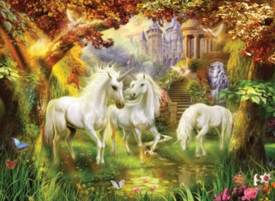 Magical Unicorn Forest - 1500pc Jigsaw Puzzle By Sunsout