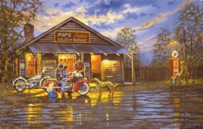 Small Town Service - 550pc Jigsaw Puzzle By Sunsout