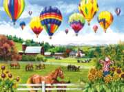 Balloons over Fields - 500pc Horse Jigsaw Puzzle By Sunsout
