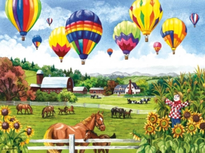 Balloons over Fields - 500pc Jigsaw Puzzle By Sunsout