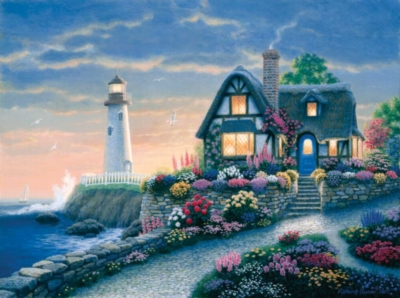 Lighthouse Overlook - 1000pc Jigsaw Puzzle By Sunsout
