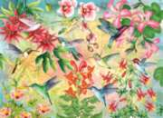 Hummingbird Garden - 500+pc Large Format Jigsaw Puzzle By Sunsout