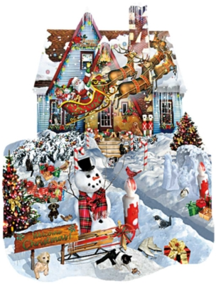Christmas at Our House - 1000pc Shaped Jigsaw Puzzle By Sunsout