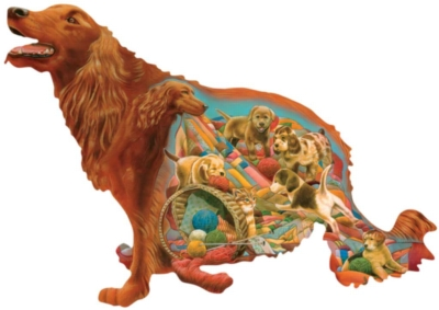 Big Red - 900pc Shaped Jigsaw Puzzle By Sunsout