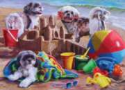 Beach Puppies - 1000pc Jigsaw Puzzle By Cobble Hill