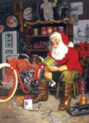 Santa's Flying Merkel - 1000pc Jigsaw Puzzle By Cobble Hill