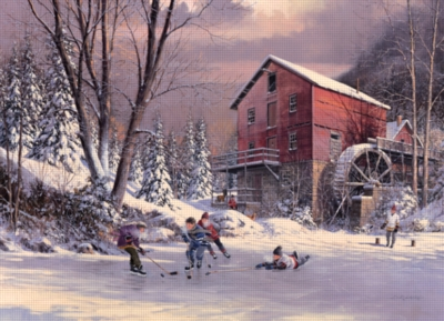 Cobble Hill Jigsaw Puzzles - The Old Mill Pond