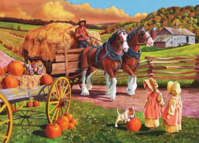 Cobble Hill Jigsaw Puzzles - Hay Wagon