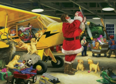 Cobble Hill Jigsaw Puzzles - Santa's Hangar