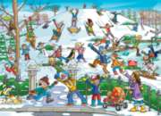 Cobble Hill Jigsaw Puzzles - Find the Difference: Snow in the Park