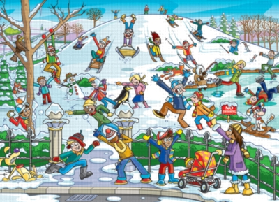 Find the Difference: Snow in the Park - 400pc Jigsaw Puzzle By Cobble Hill
