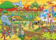 Find the Difference: Dino Park - 400pc Jigsaw Puzzle For Kids By Cobble Hill