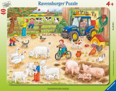 On the Big Farm - 40pc Frame Puzzle By Ravensburger