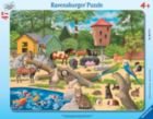 At the Petting Zoo - 47pc Frame Puzzle By Ravensburger