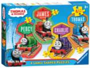 Thomas & Friends - 4 Friends (4 Shaped Puzzles) - 10, 12, 14, 16pc Shaped Jigsaw Puzzle By Ravensburger