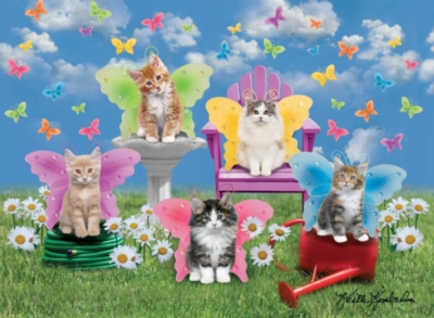 Jigsaw Puzzles for Kids - Kitty Wings