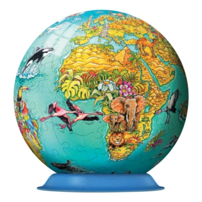 Children's World Map - 108pc Puzzleball By Ravensburger