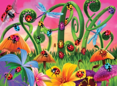 Lady Bug Land - 300pc Spring Jigsaw Puzzle By Ravensburger