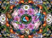 Flower Kaleidoscope - 300pc Large Format Jigsaw Puzzle By Ravensburger