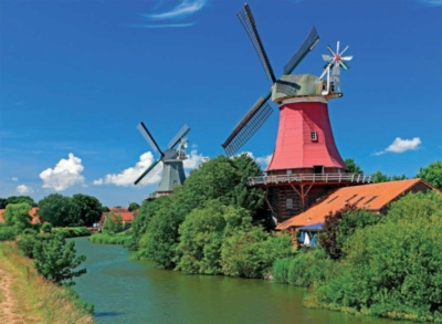 Romantic Windmills - 500pc Jigsaw Puzzle By Ravensburger