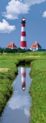 Westerhever Lighthouse - 1000pc Vertical Panoramic Jigsaw Puzzle By Ravensburger