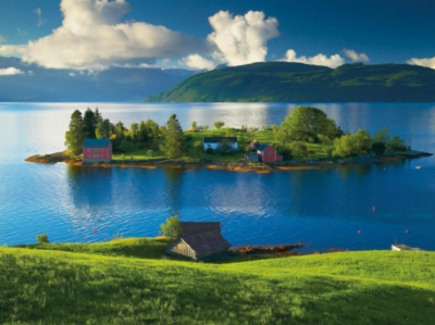 Island in Hordaland, Norway - 1500pc Jigsaw Puzzle By Ravensburger