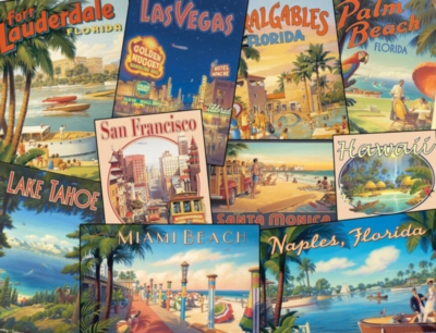 Jigsaw Puzzle - Vintage Vacations