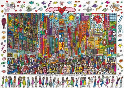 New York City Puzzle - James Rizzi: Times Square