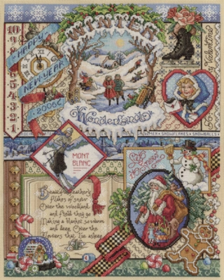 Winter Cross Stitch - 1000pc Jigsaw Puzzle By White Mountain
