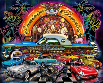 Cruisin' Classics - 1000pc Jigsaw Puzzle By White Mountain