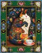 The Painted Cat - 1000pc Jigsaw Puzzle By White Mountain