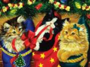 Stocking Kittens - 550pc Jigsaw Puzzle By White Mountain