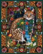 Tropical Cat - 1000pc Jigsaw Puzzle By White Mountain