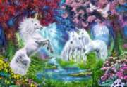Unicorn Rendezvous - 1000pc Jigsaw Puzzle By Castorland