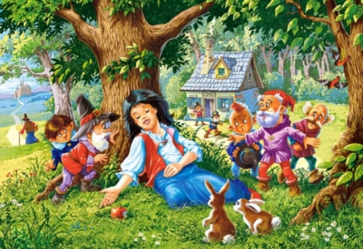Snow White and the Seven Dwarfs - 500pc Jigsaw Puzzle by Castorland