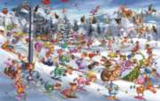 Ruyer: Skiing - 1000pc Jigsaw Puzzle by Piatnik