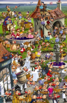 Story of Wine - 1000pc Jigsaw Puzzle by Piatnik
