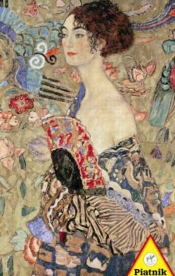 Gustav Klimt: Lady with Fan - 1000pc Jigsaw Puzzle by Piatnik