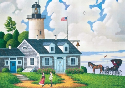 Lighthouse Keeper's Daughter - 300pc Large Format Jigsaw Puzzle by Buffalo Games