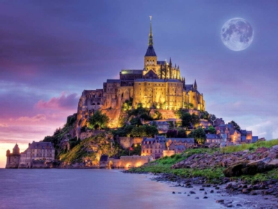 Mont Saint Michel, France - 750pc Jigsaw Puzzle by Buffalo Games