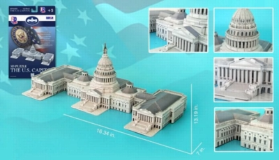 US Capitol Building - 132pc 3D Jigsaw Puzzle by Daron