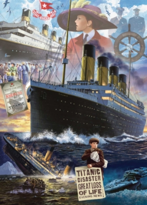 Titanic 100th Anniversary: The Titanic - 1000pc Jigsaw Puzzle by Masterpieces